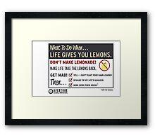 Lemons, portal 2 Framed Print