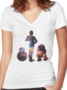 The Droids  Women's Fitted V-Neck T-Shirt