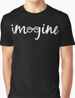 Imagine - John Lennon Tribute Artwork - John's Glasses Graphic T-Shirt