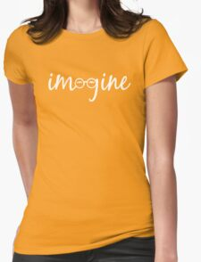 Imagine - John Lennon Tribute Artwork - John's Glasses Womens Fitted T-Shirt