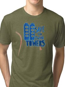 Save the Twin Towers Tri-blend T-Shirt