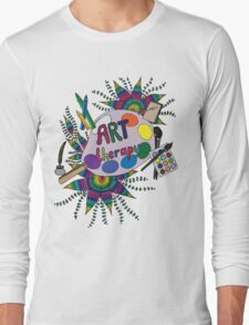 Bright picture with pencils, paints, notebook and pen for creative people. Long Sleeve T-Shirt