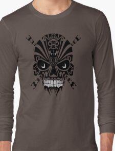 The Devil Inside - Cool Skull Vector Design Long Sleeve T-Shirt