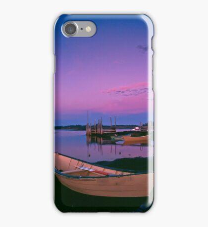 Sunset at Blue Rocks, Nova Scotia iPhone Case/Skin