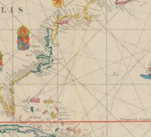 1859 North America Sticker