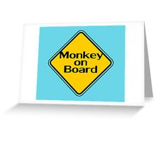 Baby Monkey On Board - Safety Sign Sticker Greeting Card