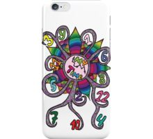 Colorfull abstract clock  iPhone Case/Skin