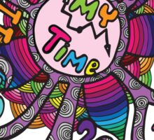 Colorfull abstract clock  Sticker