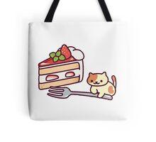 Neko Atsume - peaches cake Tote Bag