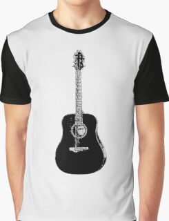 Steel String Accoustic Guitar Graphic T-Shirt