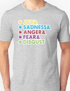 Joy&Sadness&Anger&Fear&Disgust T-Shirt