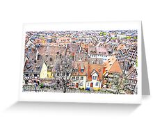 Rooftops of Bavaria Greeting Card