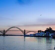 Yaquina Bay Bridge at Sunset by Doug Graybeal