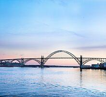 Yaquina Bay Bridge at Sunset, Newport, Oregon by Doug Graybeal