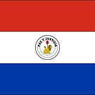 Paraguay Flag Stickers (reverse) by Mark Podger