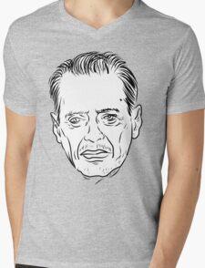 Buscemi Line Drawing Mens V-Neck T-Shirt