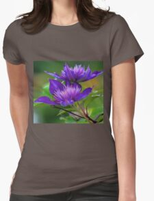 Clematis Blossoms Womens Fitted T-Shirt
