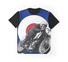 Classic UK Motorcycle Racing Graphic T-Shirt