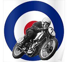 Classic UK Motorcycle Racing Poster