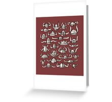 Horned Headware Greeting Card