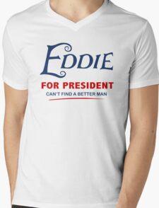 Eddie for President Mens V-Neck T-Shirt