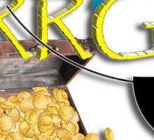 Pirate Talk Text - ARRGH! Sticker