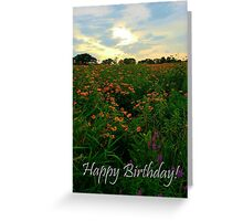 Sunset Meadow Birthday Greeting Card