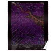 USGS TOPO Map New Jersey NJ Green Bank 254429 1997 24000 Inverted Poster