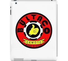 Vintage Bultaco Spanish Motorcycle iPad Case/Skin