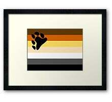 Bear Pride Flag Framed Print