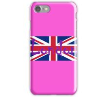 London Flag UK Union Jack Flag Hot Pink Punk Sticker Tee iPhone Case/Skin
