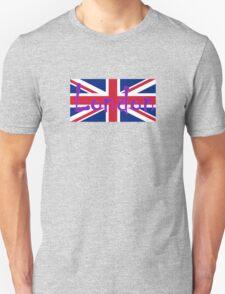 London Flag UK Union Jack Flag Hot Pink Punk Sticker Tee Unisex T-Shirt