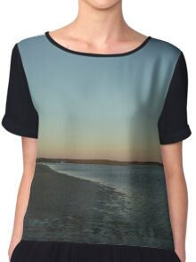 the beach after sunset Chiffon Top