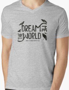 Dream me the world Mens V-Neck T-Shirt