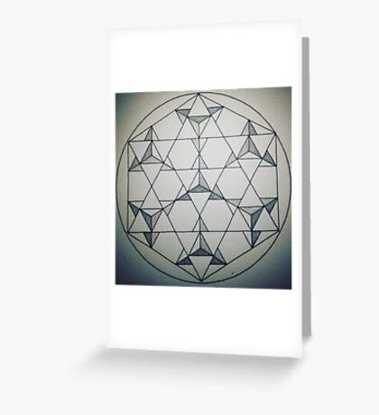 Seven Star Tetrahedrons - Shaded Greeting Card