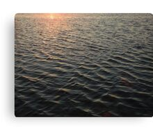 water at sunset Canvas Print