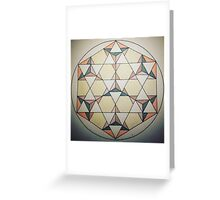 Seven Star Tetrahedrons - Colored Greeting Card