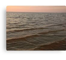 water after sunset Canvas Print