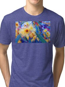 Vibrant Gum Blossoms Tri-blend T-Shirt