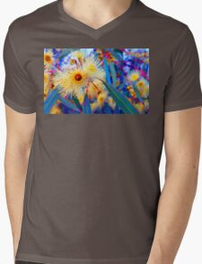 Vibrant Gum Blossoms Mens V-Neck T-Shirt