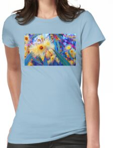 Vibrant Gum Blossoms Womens Fitted T-Shirt