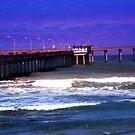 Cafe On The Pier ~ Ocean Beach, California, USA by Marie Sharp