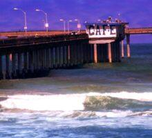 Cafe On The Pier ~ Ocean Beach, California, USA Sticker