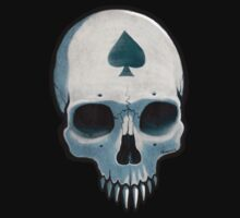 Vampire Skull, Ace of Spades One Piece - Short Sleeve