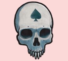 Vampire Skull, Ace of Spades One Piece - Long Sleeve