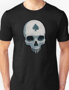 Vampire Skull, Ace of Spades Unisex T-Shirt
