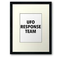 UFO RESPONSE TEAM Framed Print
