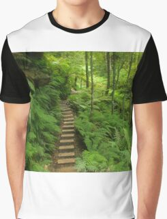Pathway of ferns Graphic T-Shirt