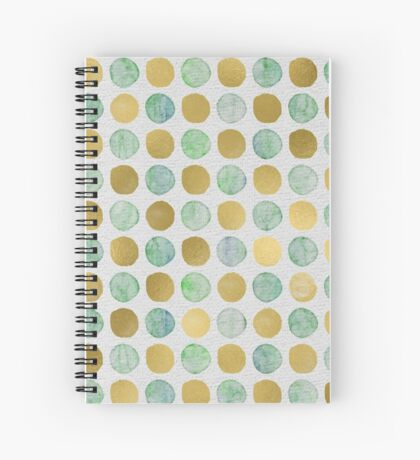 Gilded aquatics Spiral Notebook