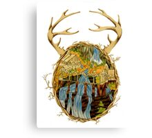 Stained Glass Rivendell Canvas Print